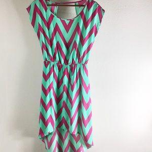 Love Culture Chevron High-Low Sleeveless Dress
